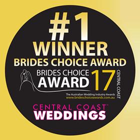Brides Choice Awards - Central Coast - Winner 2017