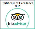 TripAdvisor - Certificate of Excellence - 2017