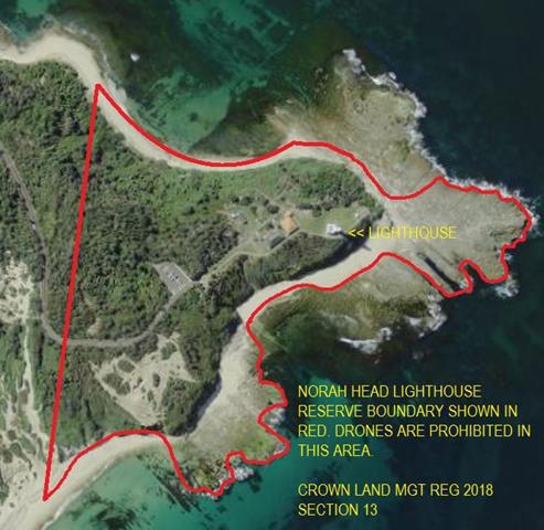 Norah Head Lighthouse - Boundary Notice